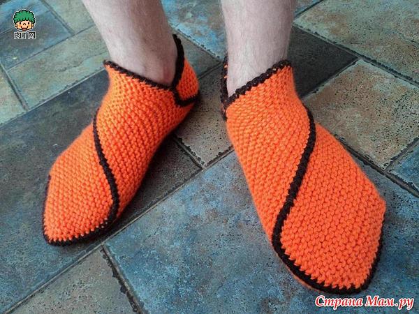 毛线编织拖鞋